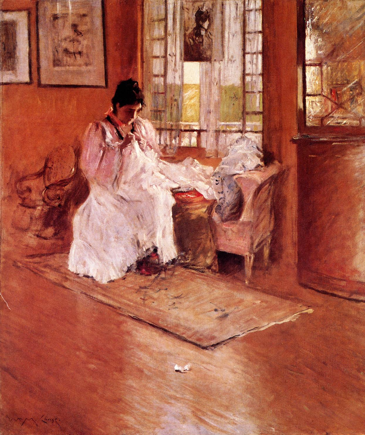 For the Little One (aka Hall at Shinnecock)  1896 | William Merritt Chase | oil painting