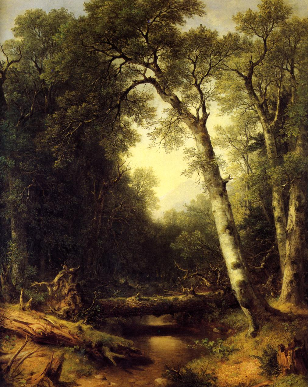 A Creek in the Woods 1865 | Asher B Durand | oil painting