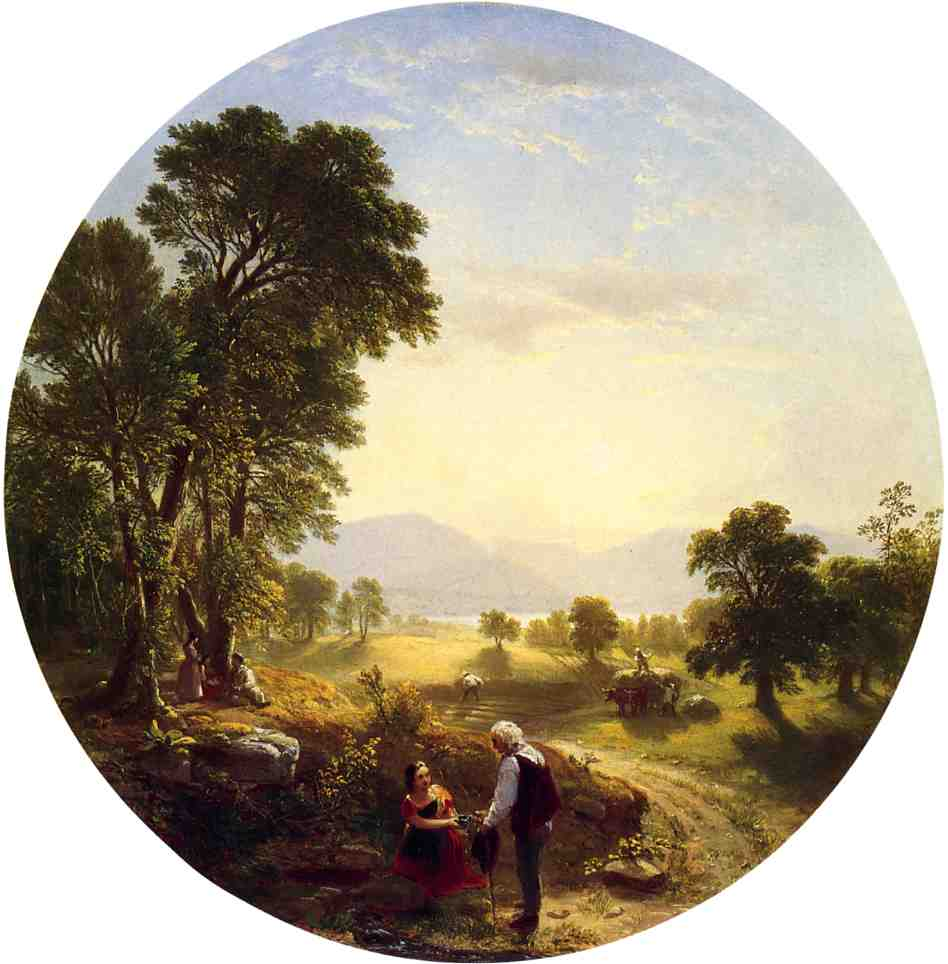 Hudson River Scene 1846 | Asher B Durand | oil painting
