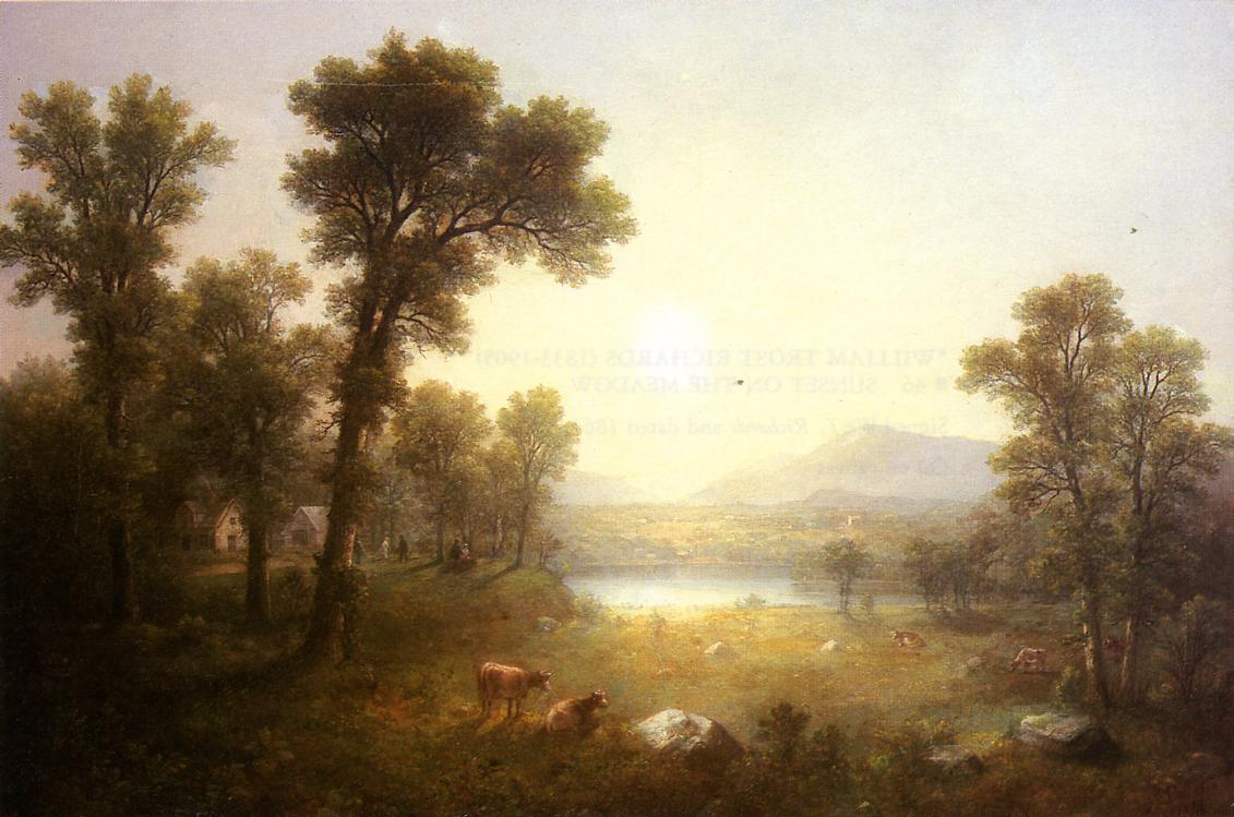 Lake Scene in the Mountains 1874 | Asher B Durand | oil painting