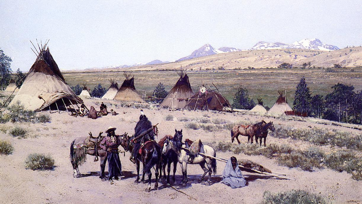 Among the Foothills 1892 | Henry Farny | oil painting