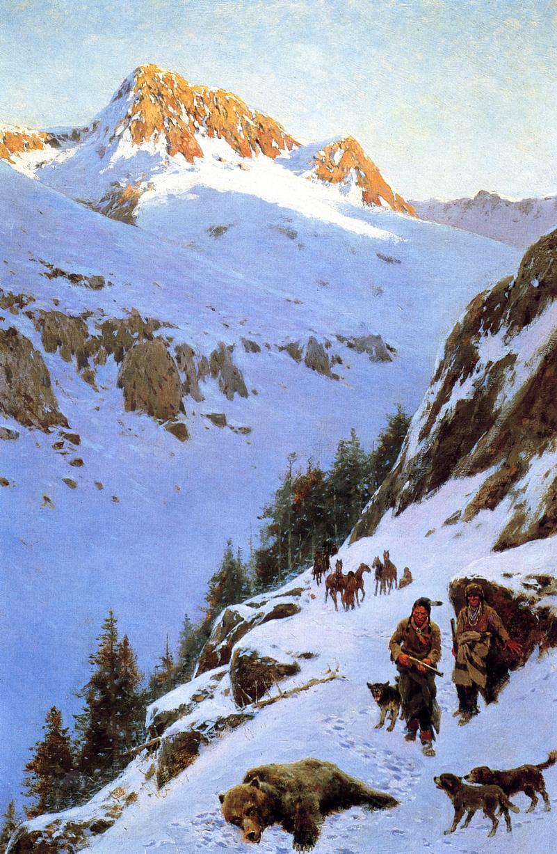 A Moment of Suspense 1911 | Henry Farny | oil painting