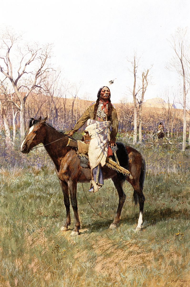 Crow Scouts 1898 | Henry Farny | oil painting
