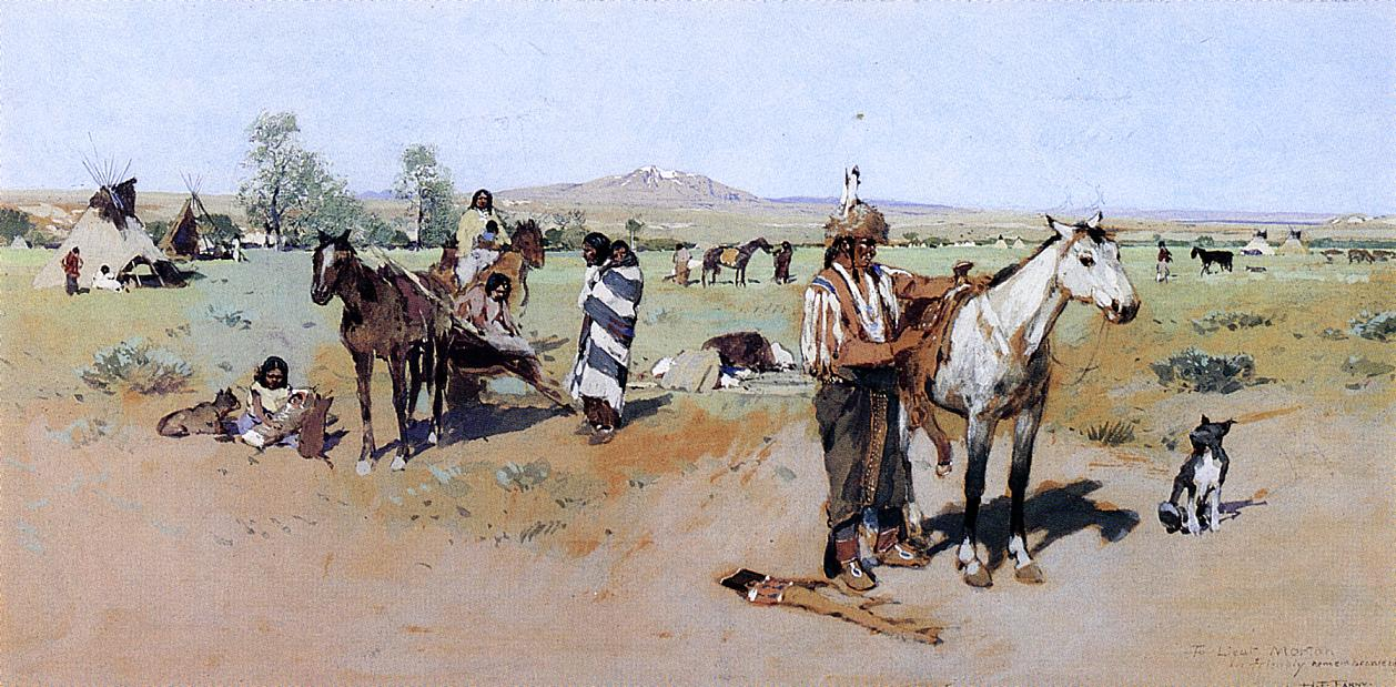 Indian Encampment 1881-1894 | Henry Farny | oil painting