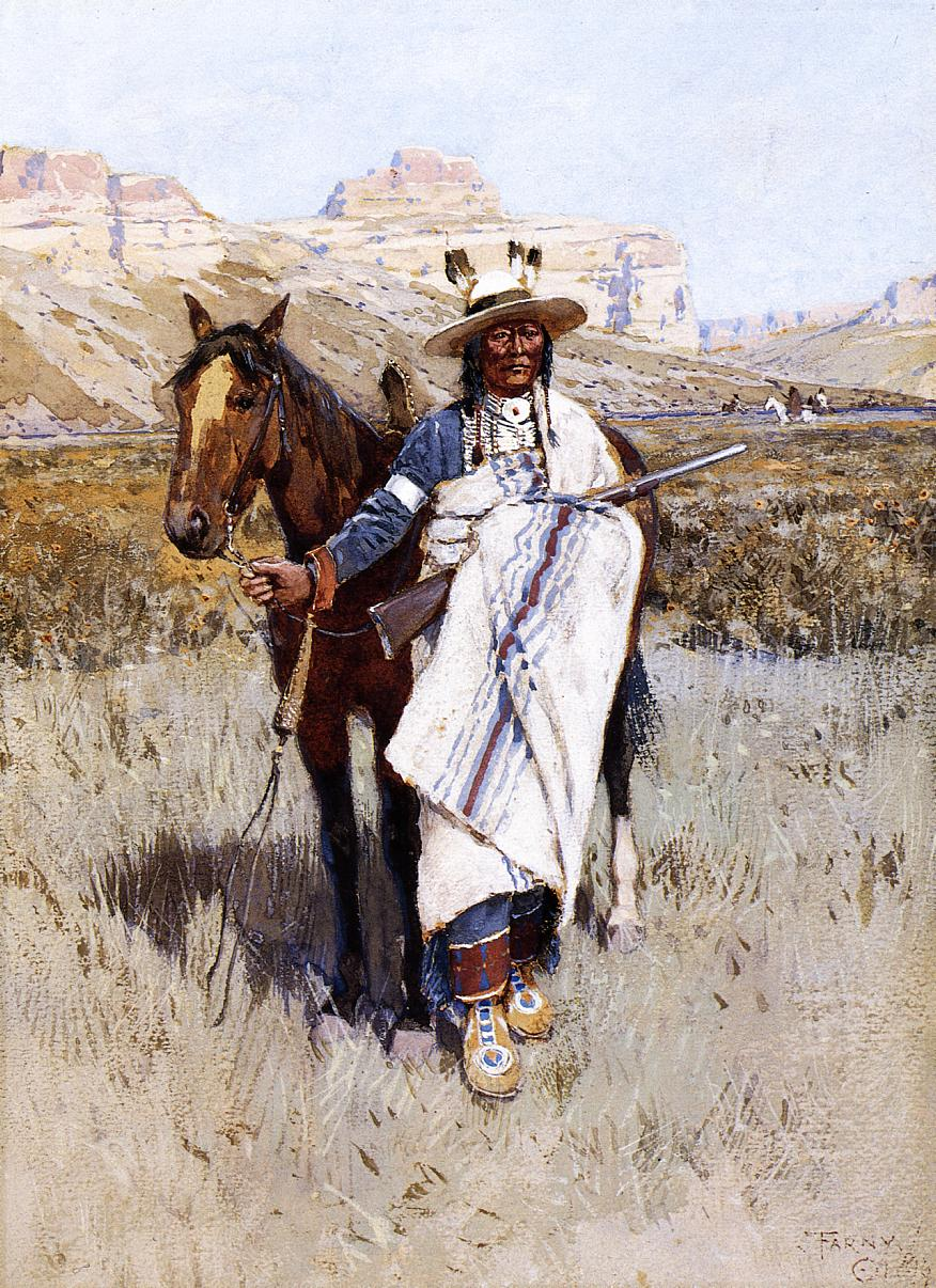 Indian Scout 1899 | Henry Farny | oil painting