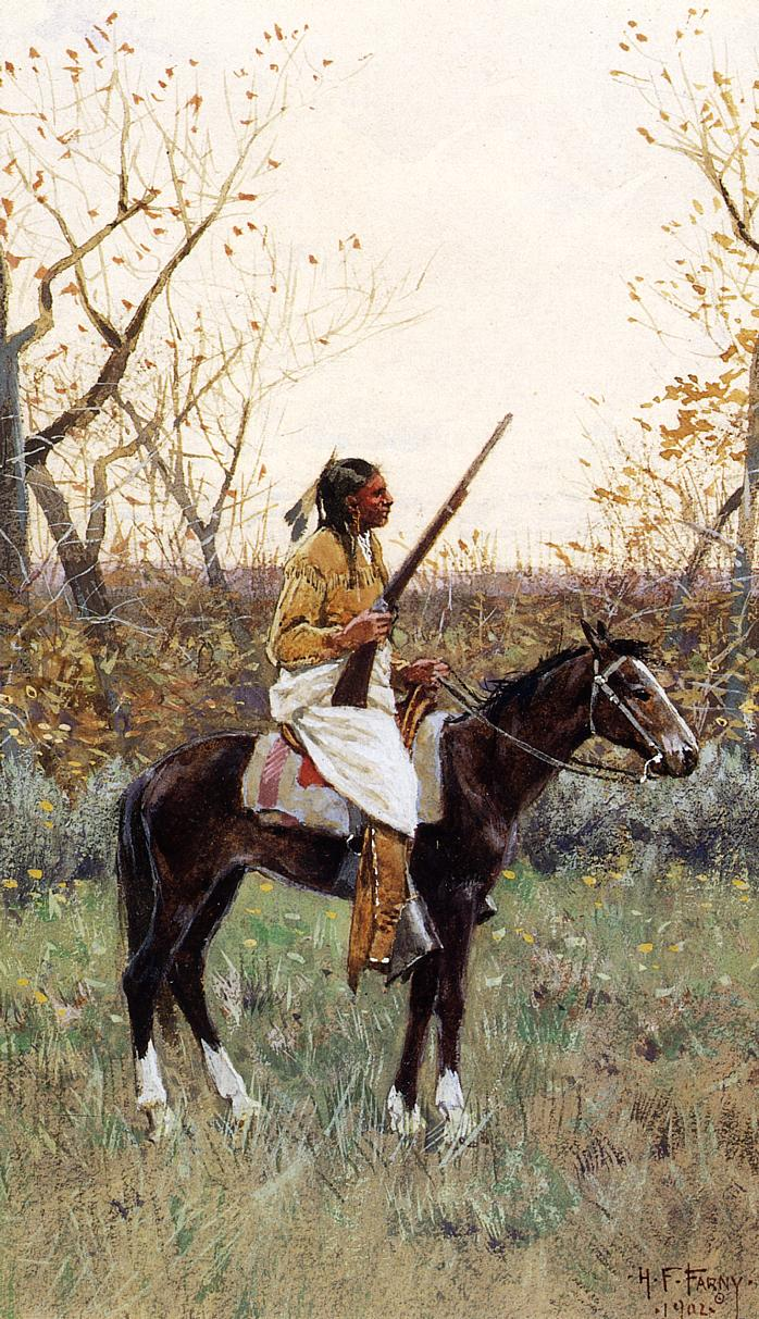 Plains Indian 1902 | Henry Farny | oil painting