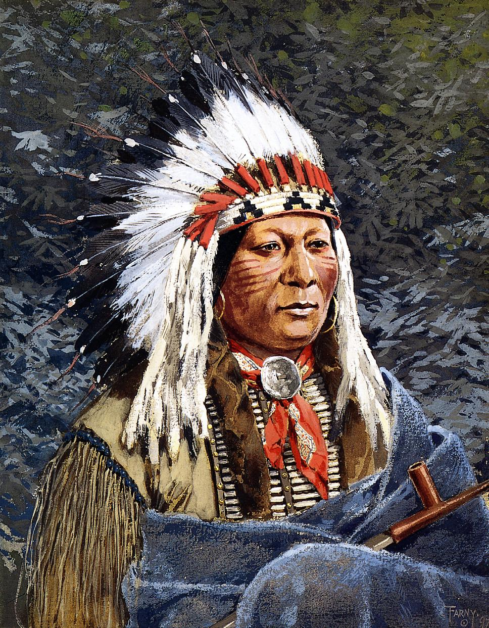 Sioux Chief 1897 | Henry Farny | oil painting