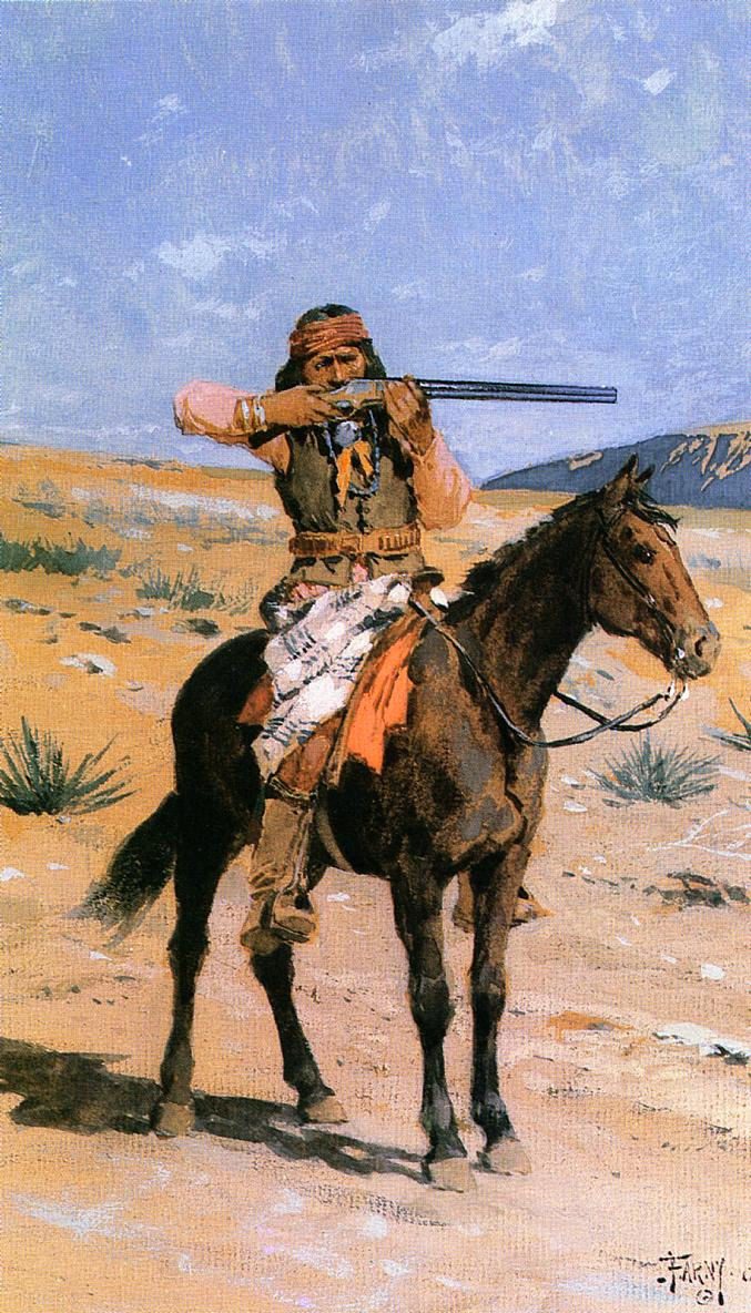 The Long Shot 1891 | Henry Farny | oil painting