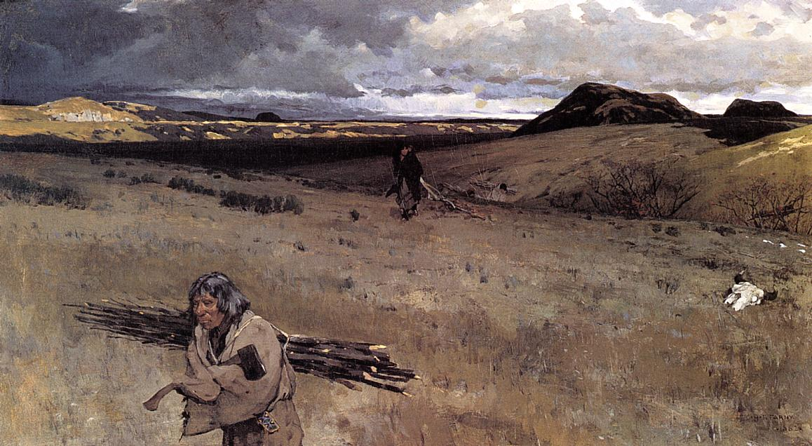 The Toilers of the Plains 1882 | Henry Farny | oil painting
