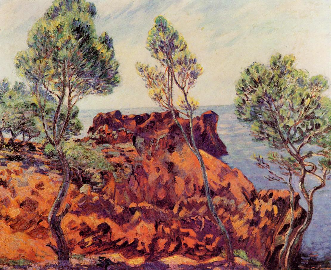 Agay the Red Rocks 1901 | Armand Guillaumin | oil painting
