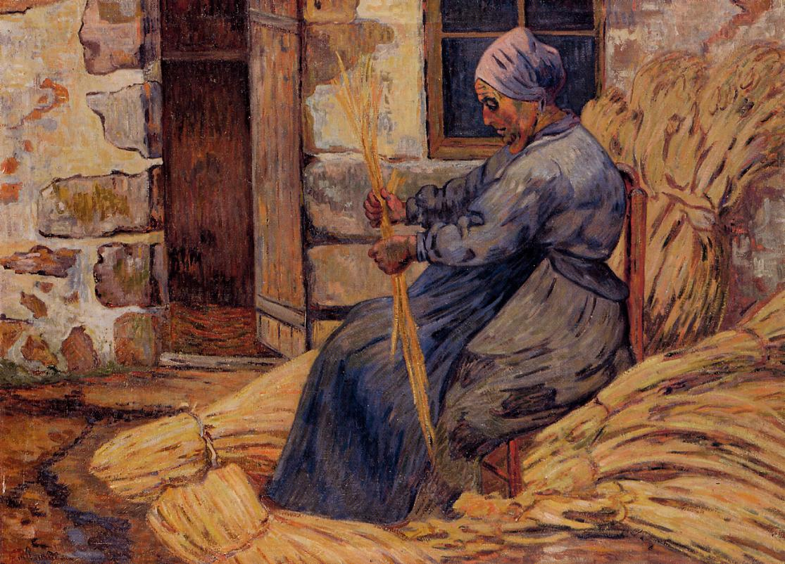 Basket Maker Damiette 1884 | Armand Guillaumin | oil painting