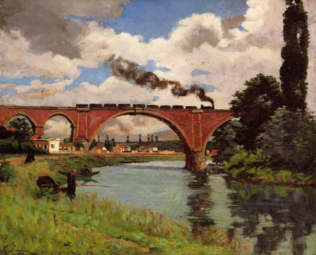 Bridge over the Marne at Joinville 1871 | Armand Guillaumin | oil painting