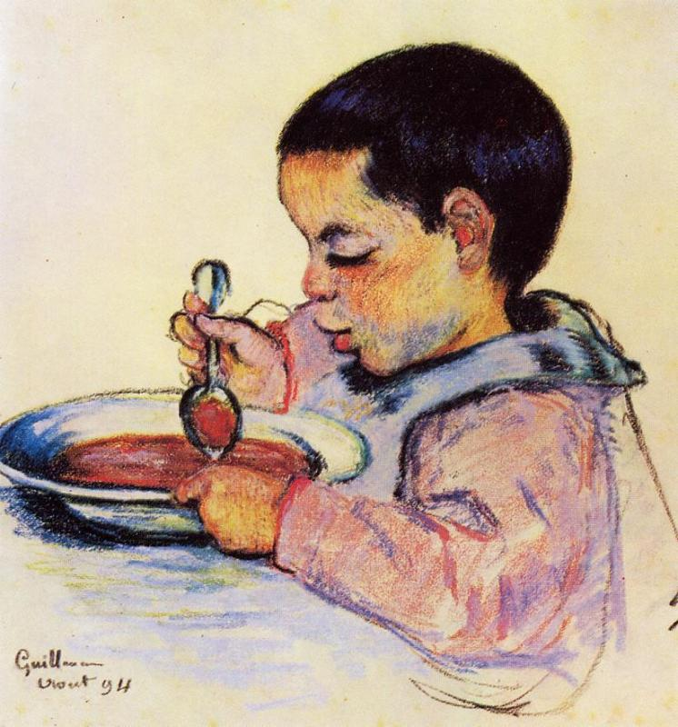 Child Eating Soup 1894 | Armand Guillaumin | oil painting