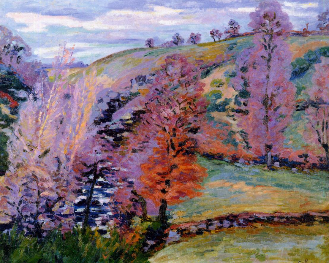 Crozant Landscape (aka Grey Weather) 1910 | Armand Guillaumin | oil painting