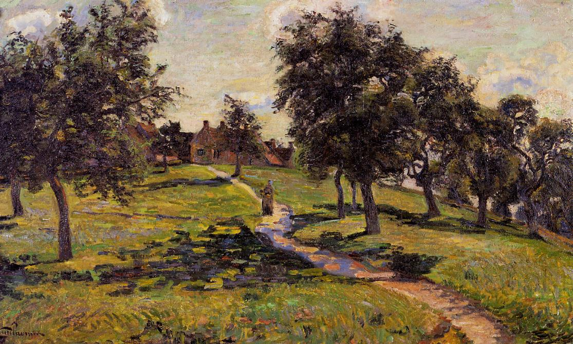Damiette Apple Trees 1884 | Armand Guillaumin | oil painting