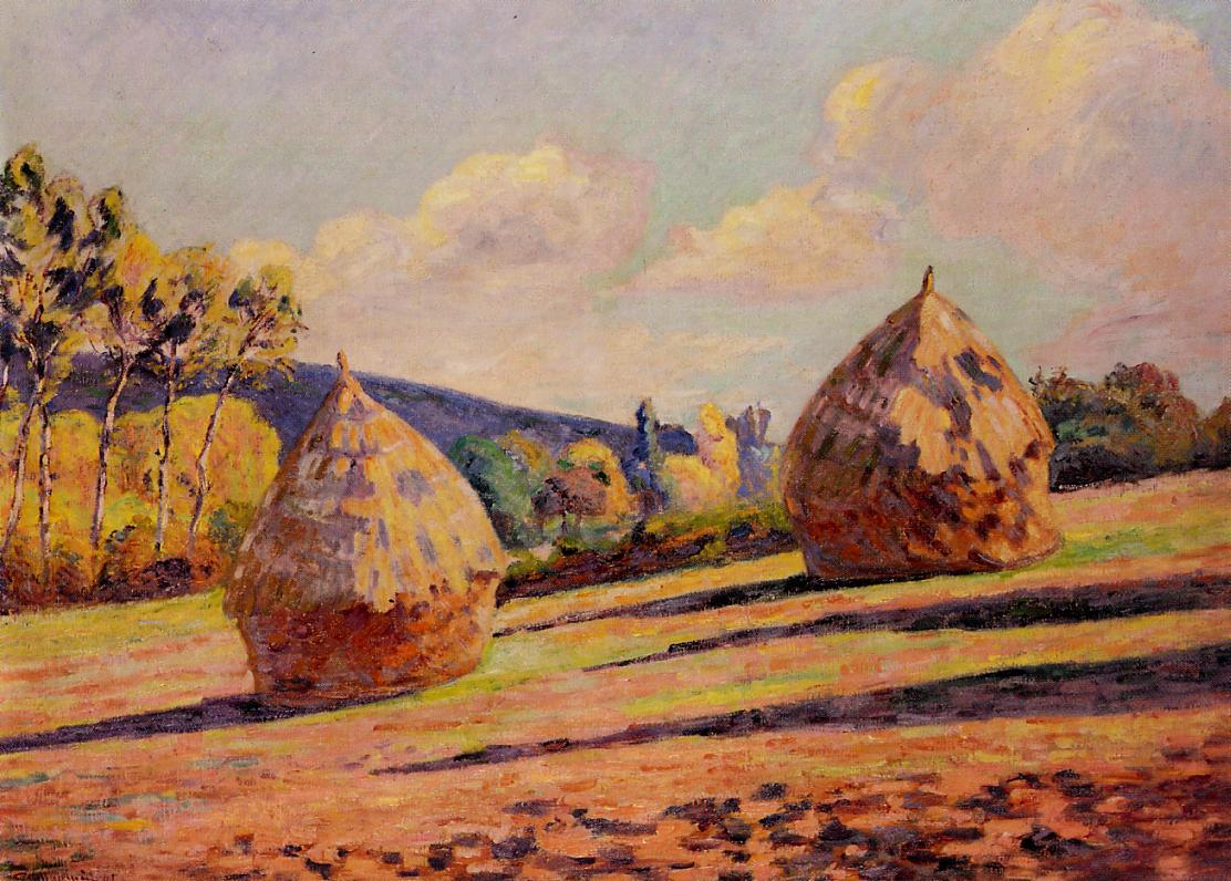 Grainstacks 1891 | Armand Guillaumin | oil painting