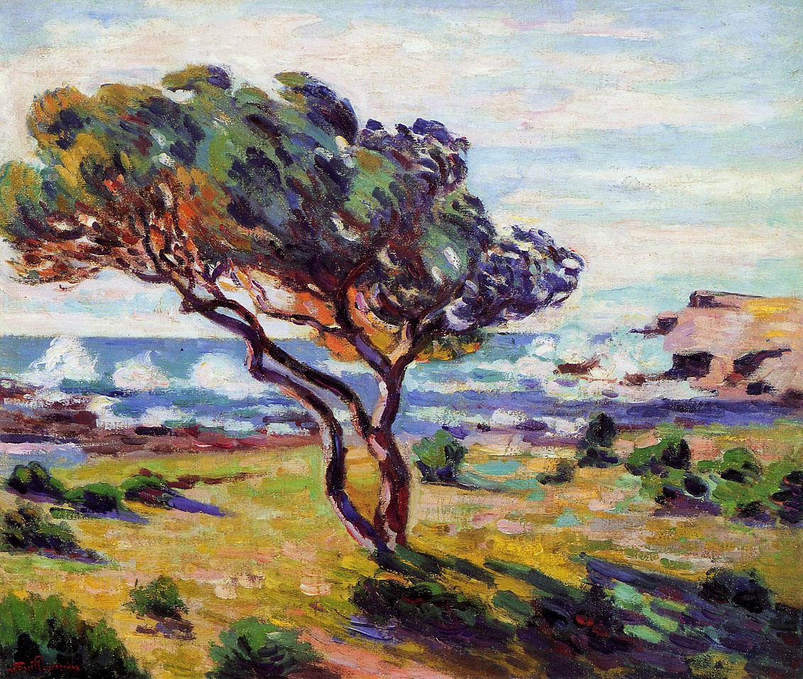 Gust of Wind le Brusc 1911 | Armand Guillaumin | oil painting
