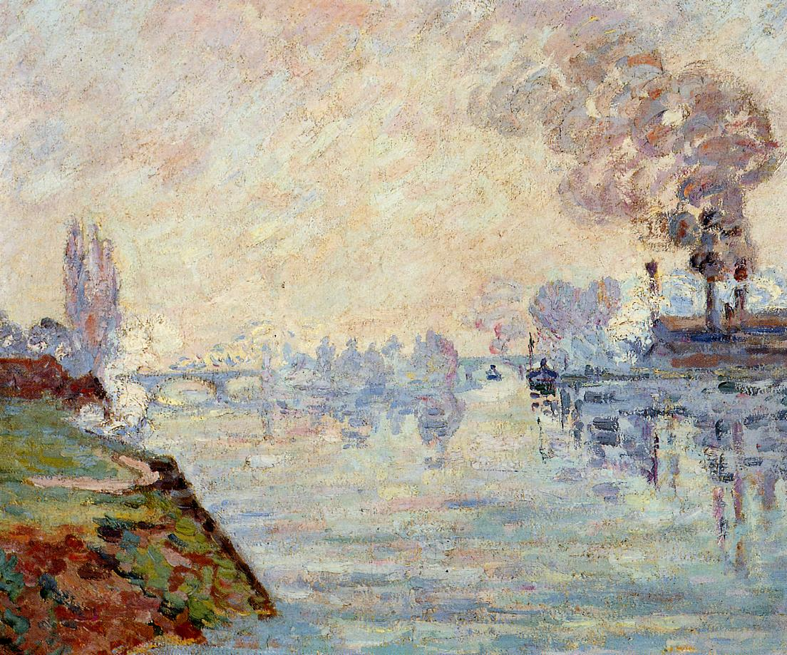 Landscape in the Vicinity of Rouen 1898 | Armand Guillaumin | oil painting