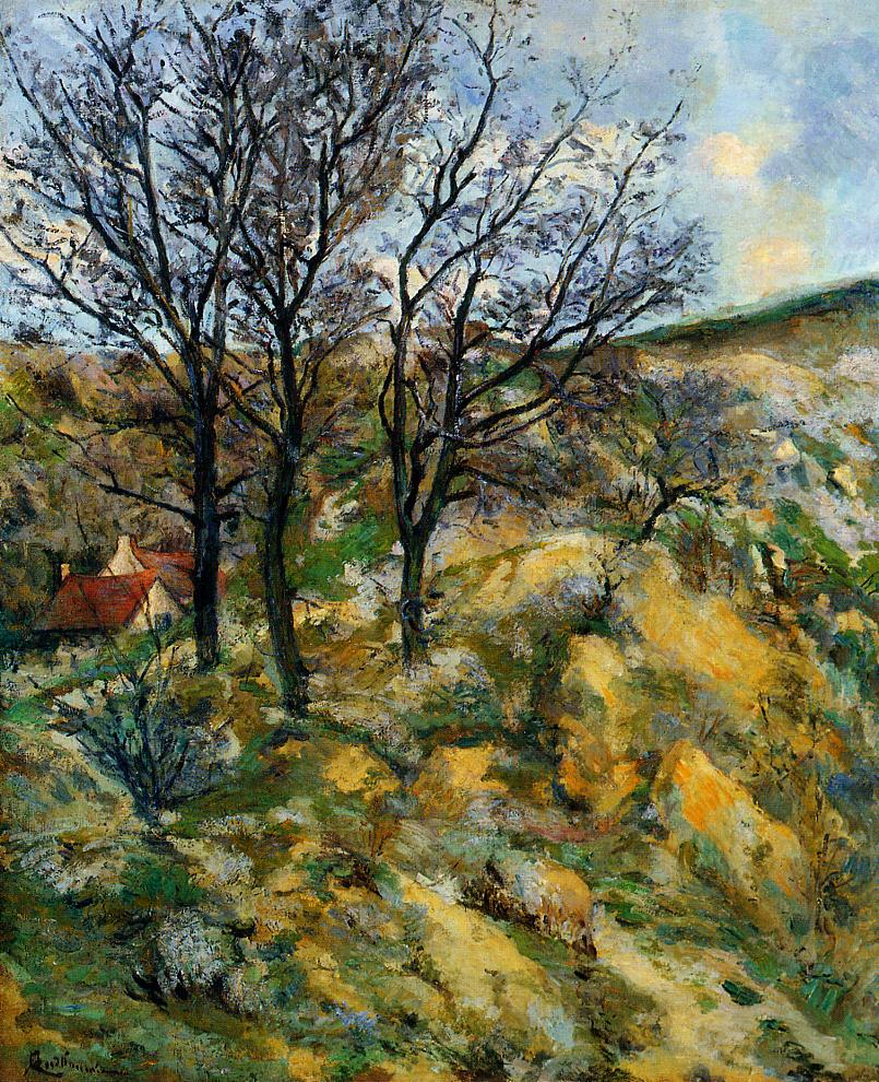 Landscape with Red Roofs   Armand Guillaumin   oil painting