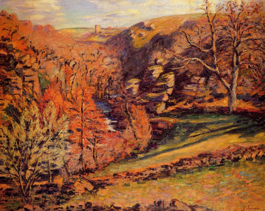 La Ravin de la Folie Crozant 1894 | Armand Guillaumin | oil painting
