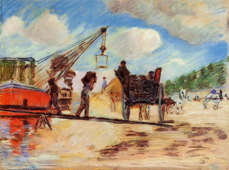 Le Charrois au bord de la Seine 1882 | Armand Guillaumin | oil painting