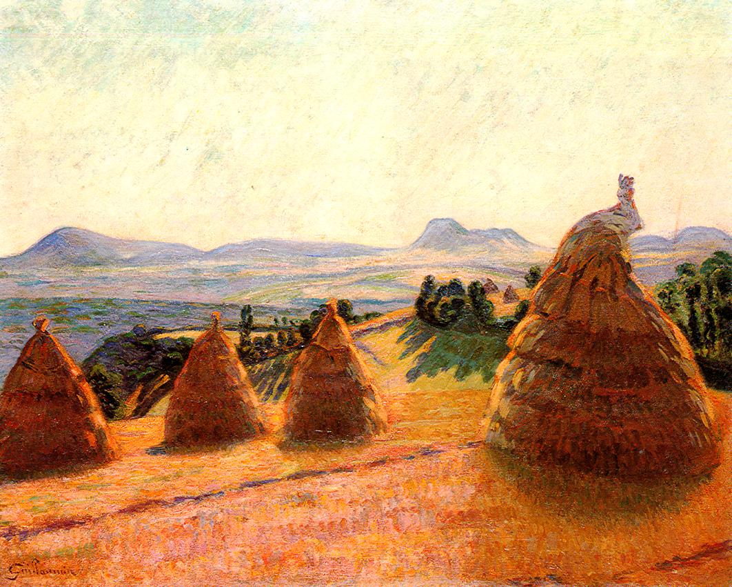 Le Pleteau Bromant a Pontgibaud (aka Puy de Dome) 1890 | Armand Guillaumin | oil painting