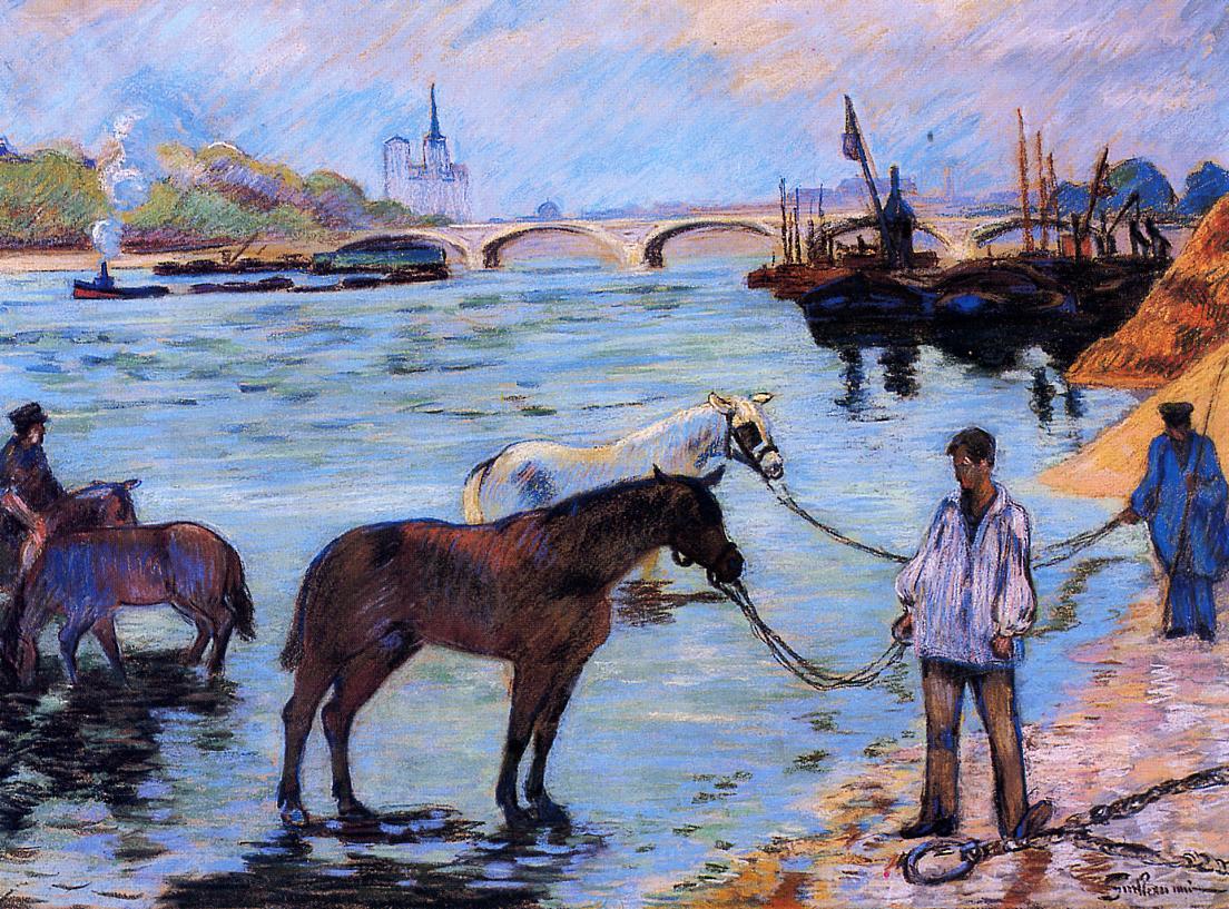Le Quai de Bercy 1885 | Armand Guillaumin | oil painting