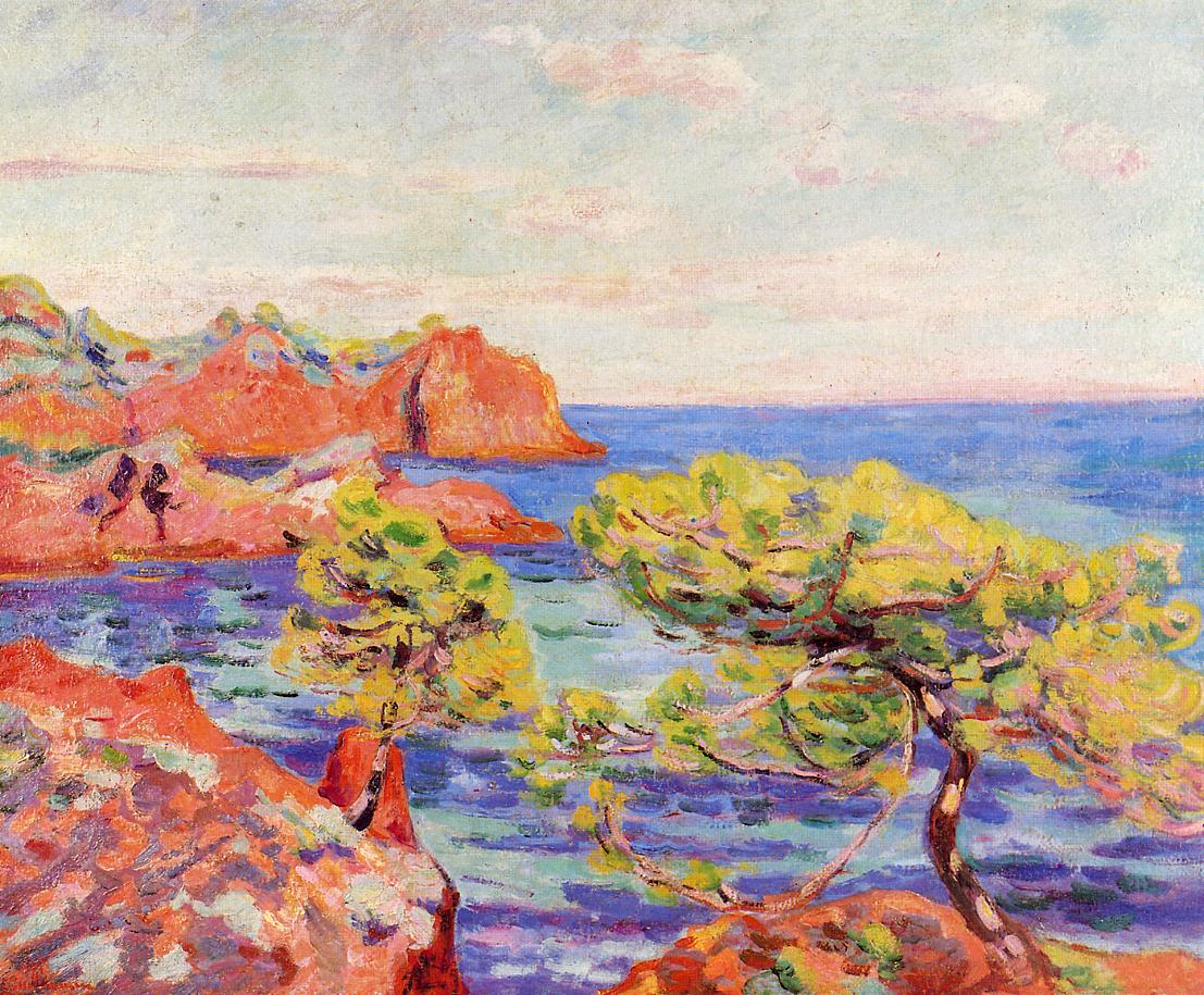 Le Trayas 1907   Armand Guillaumin   oil painting