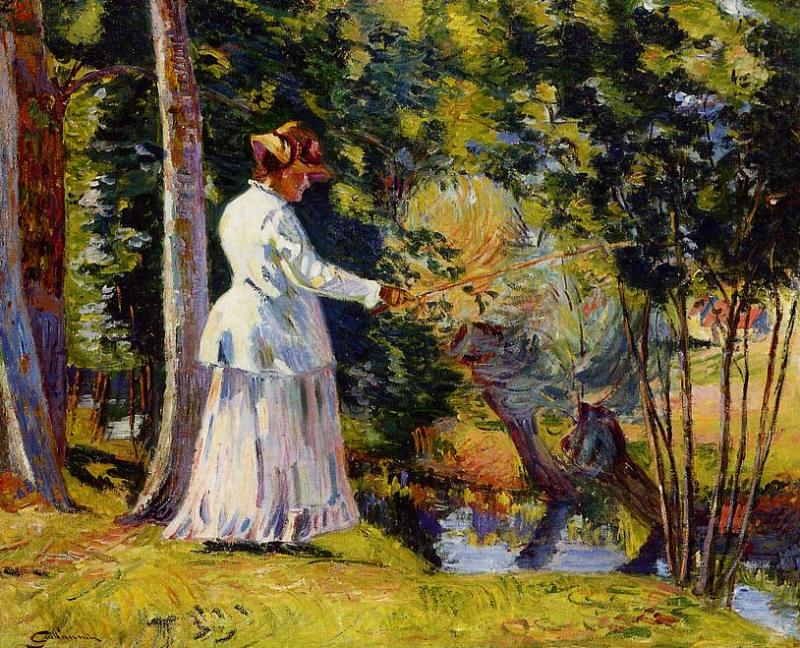 Madame Guillaumin Fising 1894   Armand Guillaumin   oil painting