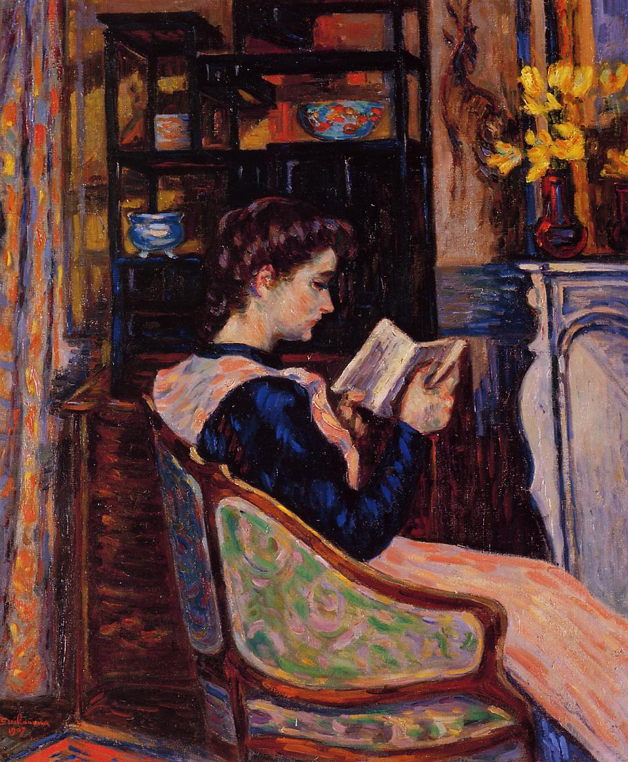 Mademoiselle Guillaumin Reading 1907 | Armand Guillaumin | oil painting