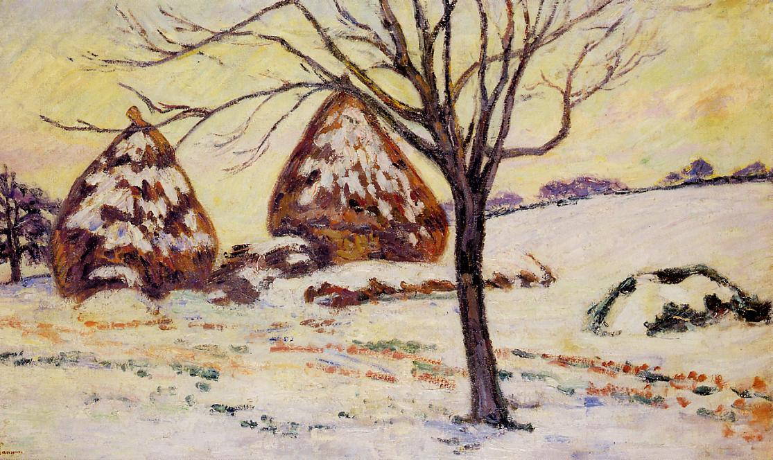 Palaiseau Snow Effect 1883 | Armand Guillaumin | oil painting