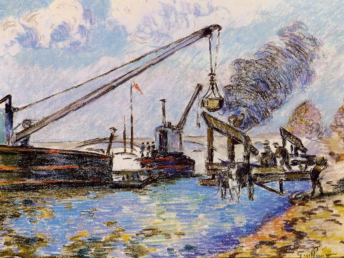 Paris Quai de la Rapee 1885 | Armand Guillaumin | oil painting