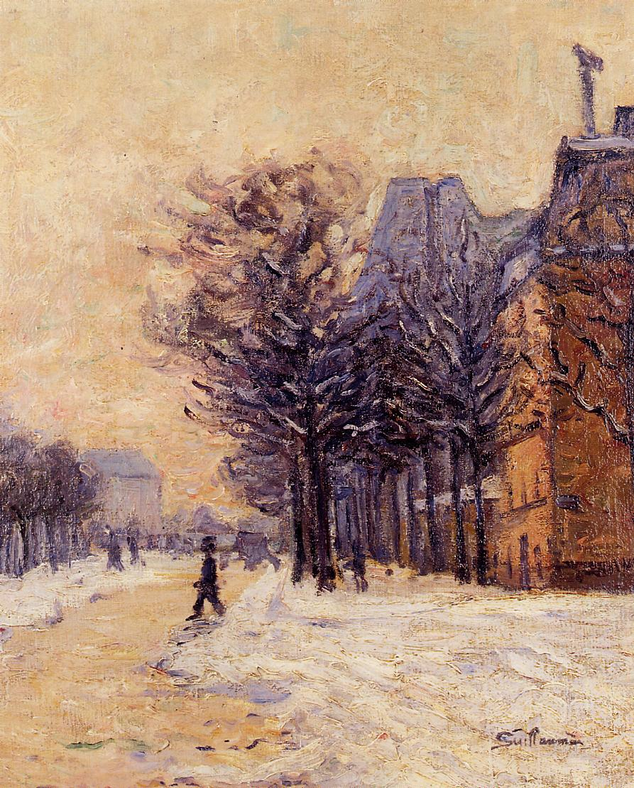 Passers-by in Paris in Winter 1888 | Armand Guillaumin | oil painting