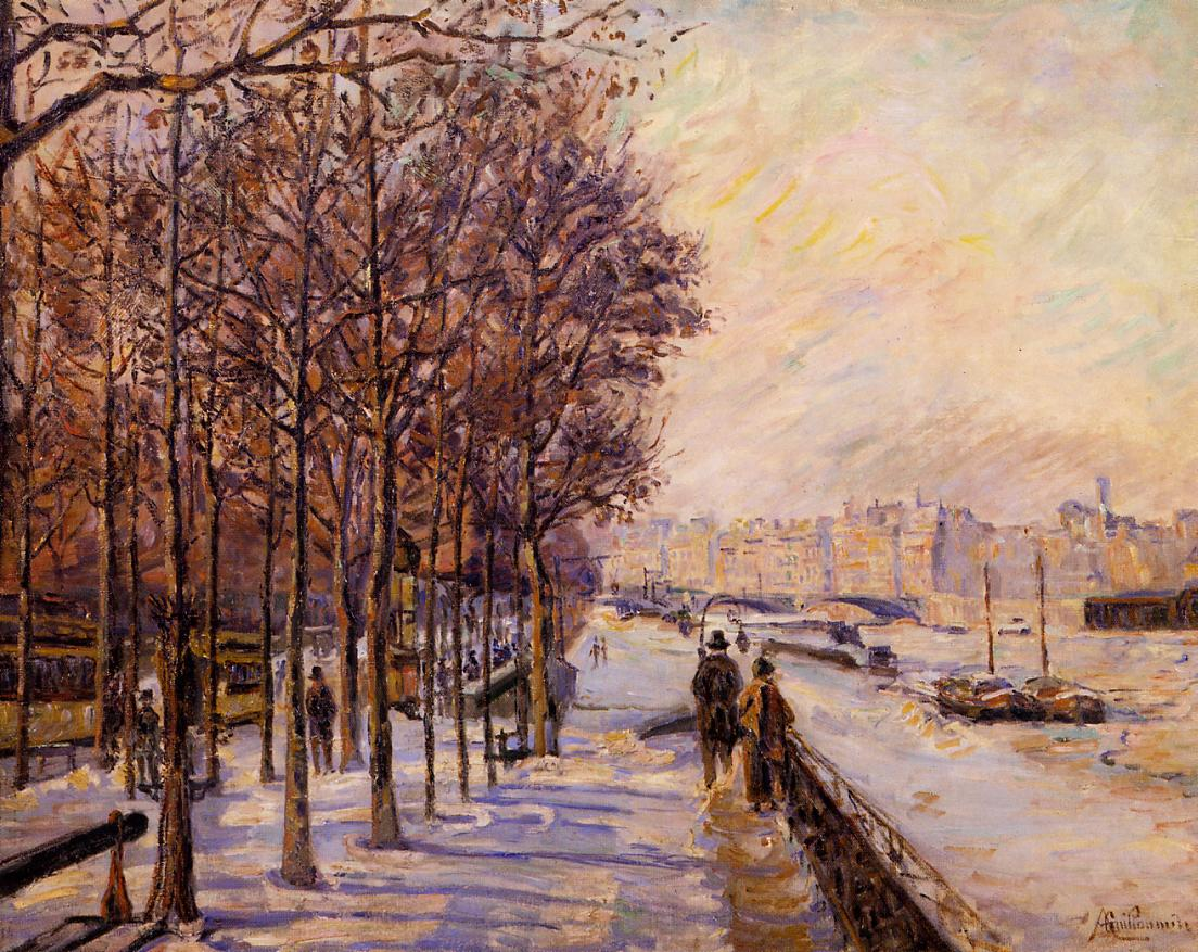 Place Valhubert 1872   Armand Guillaumin   oil painting