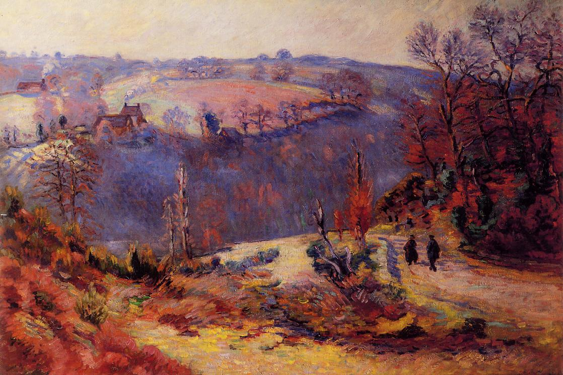 Pont Charraud Hoarfrost 1903-1911 | Armand Guillaumin | oil painting