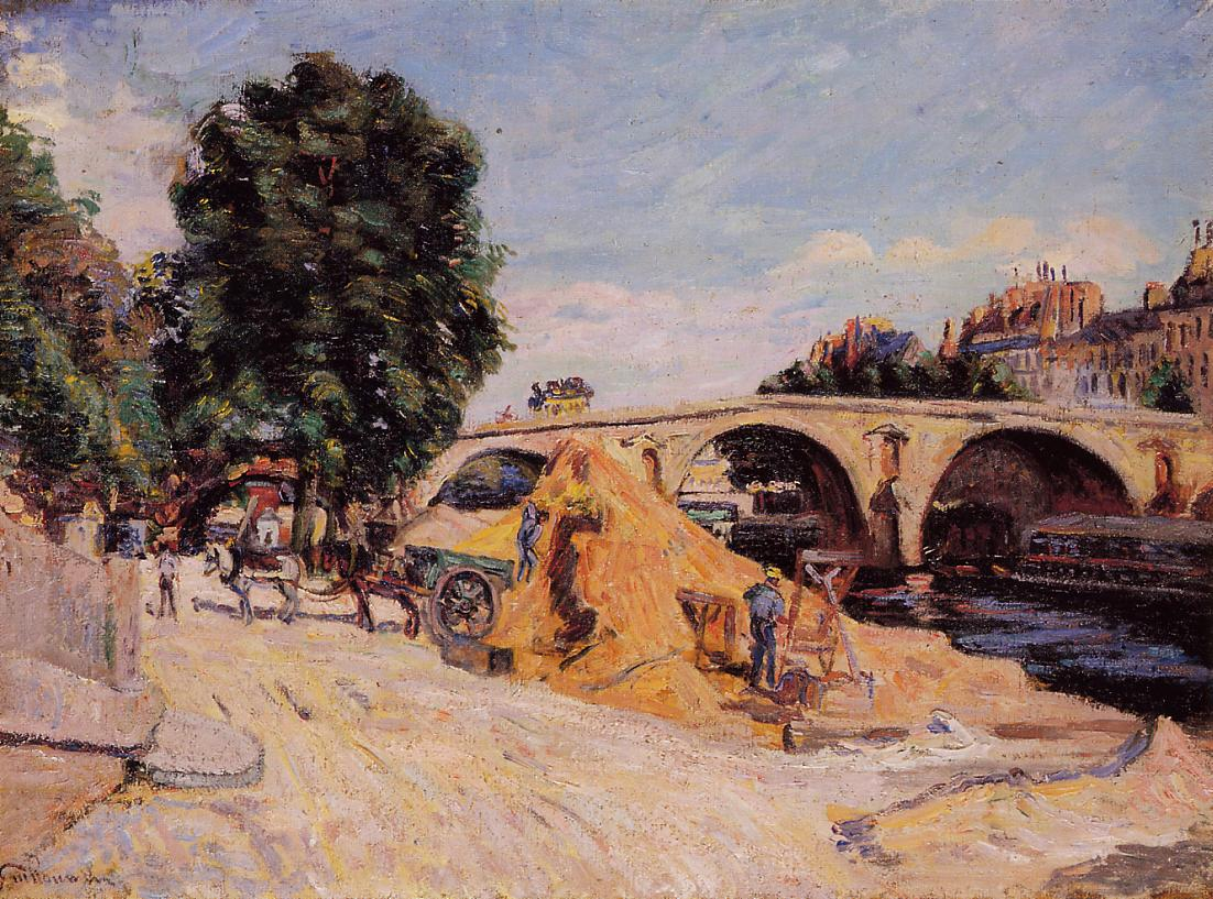 Pont Marie from the Quai d'Anjou 1883   Armand Guillaumin   oil painting
