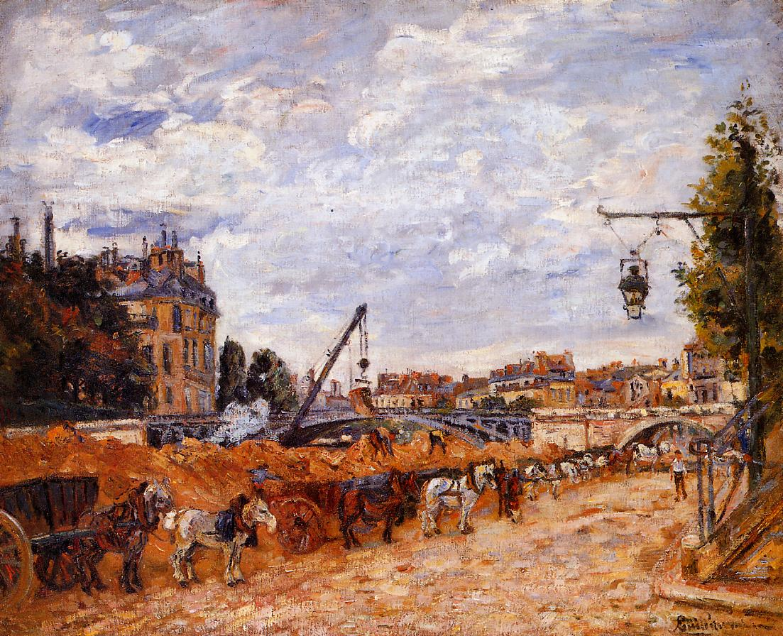 Pont Marie Quai Sully 1878 | Armand Guillaumin | oil painting