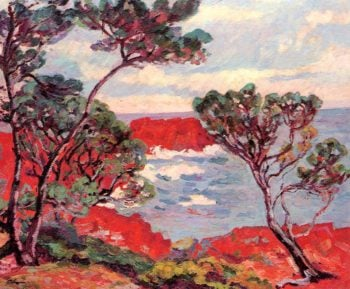 Red Rocks 1894 | Armand Guillaumin | oil painting