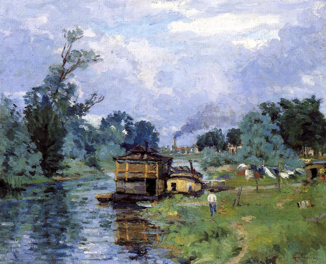 The Banks of the River 1880 | Armand Guillaumin | oil painting