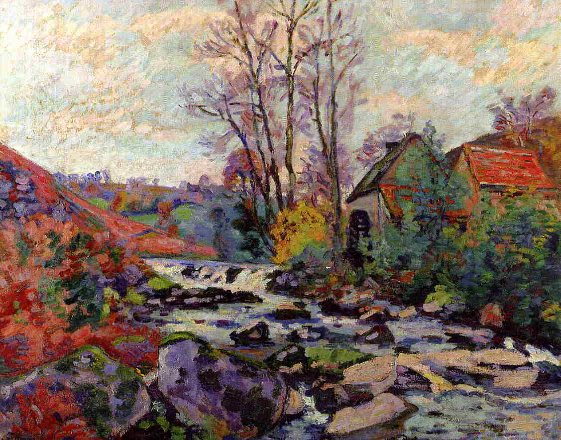 The Bouchardon Mill Crozant 1895 | Armand Guillaumin | oil painting