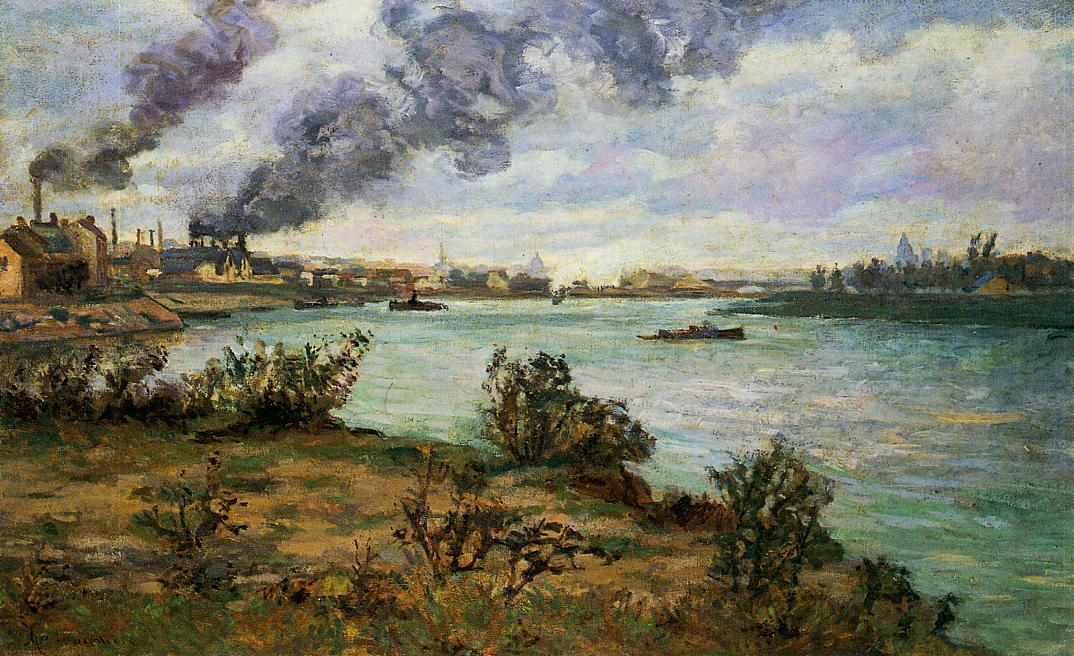 The Confluence of the Seine and Marne at Ivry | Armand Guillaumin | oil painting