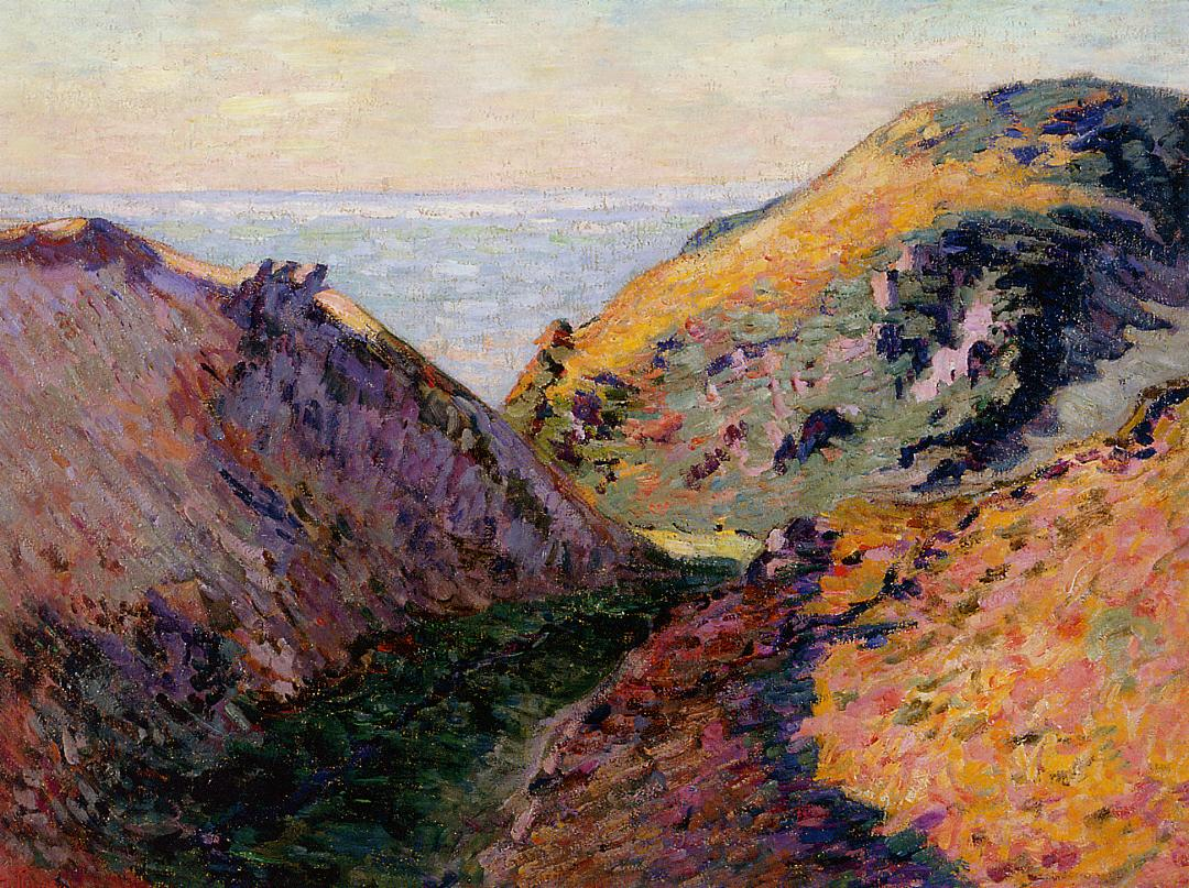 The Lude Valley at Carolles 1902 | Armand Guillaumin | oil painting