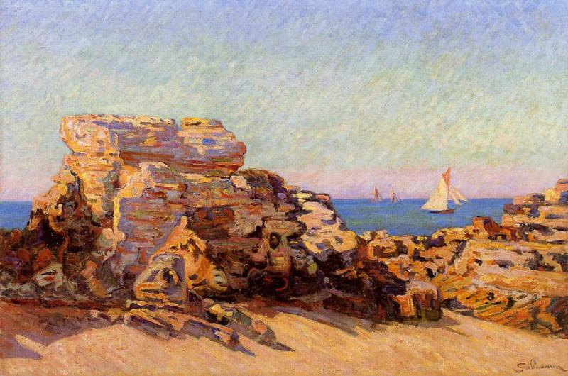 The Platin Rock at Saint-Palais 1893 | Armand Guillaumin | oil painting