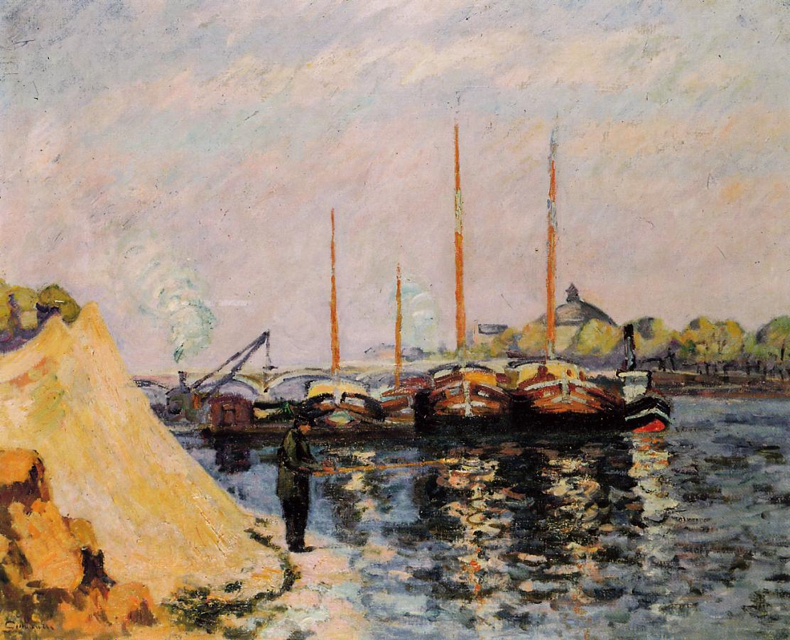 The Quay d'Austerlitz Morning 1886 | Armand Guillaumin | oil painting