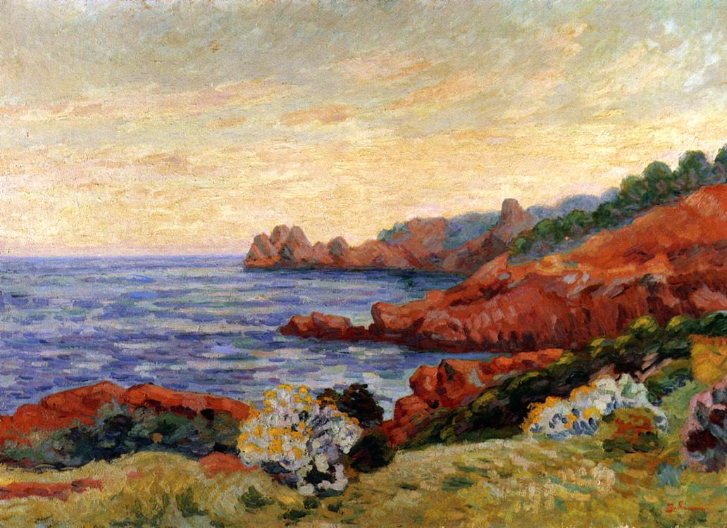 The Red Rocks at Agay 1915 | Armand Guillaumin | oil painting