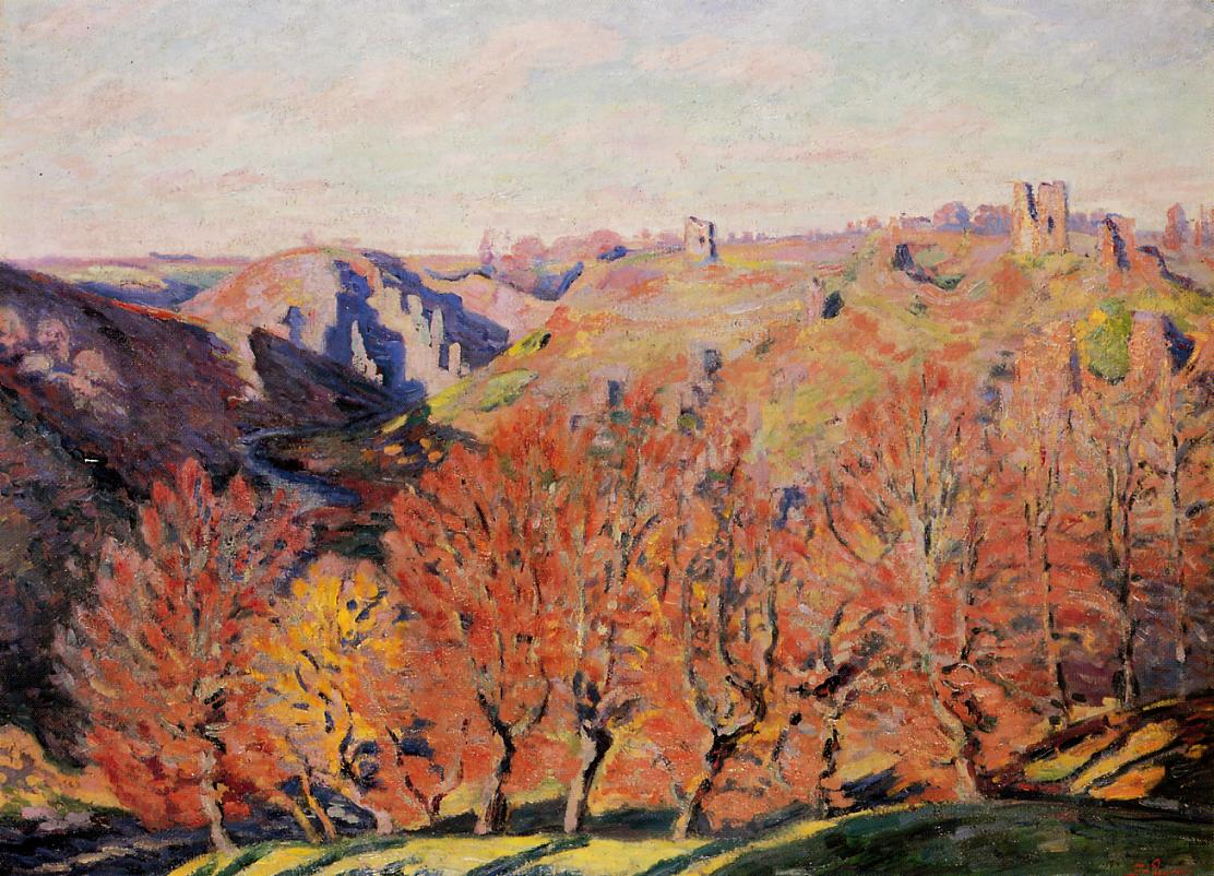 The Ruins at Crozant 1897 | Armand Guillaumin | oil painting