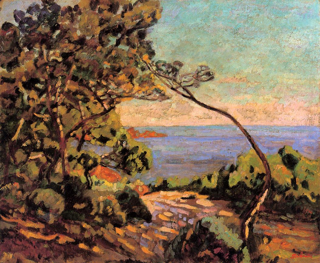 The Sea at Pointe de la Perriere Saint-Palais 1892 | Armand Guillaumin | oil painting