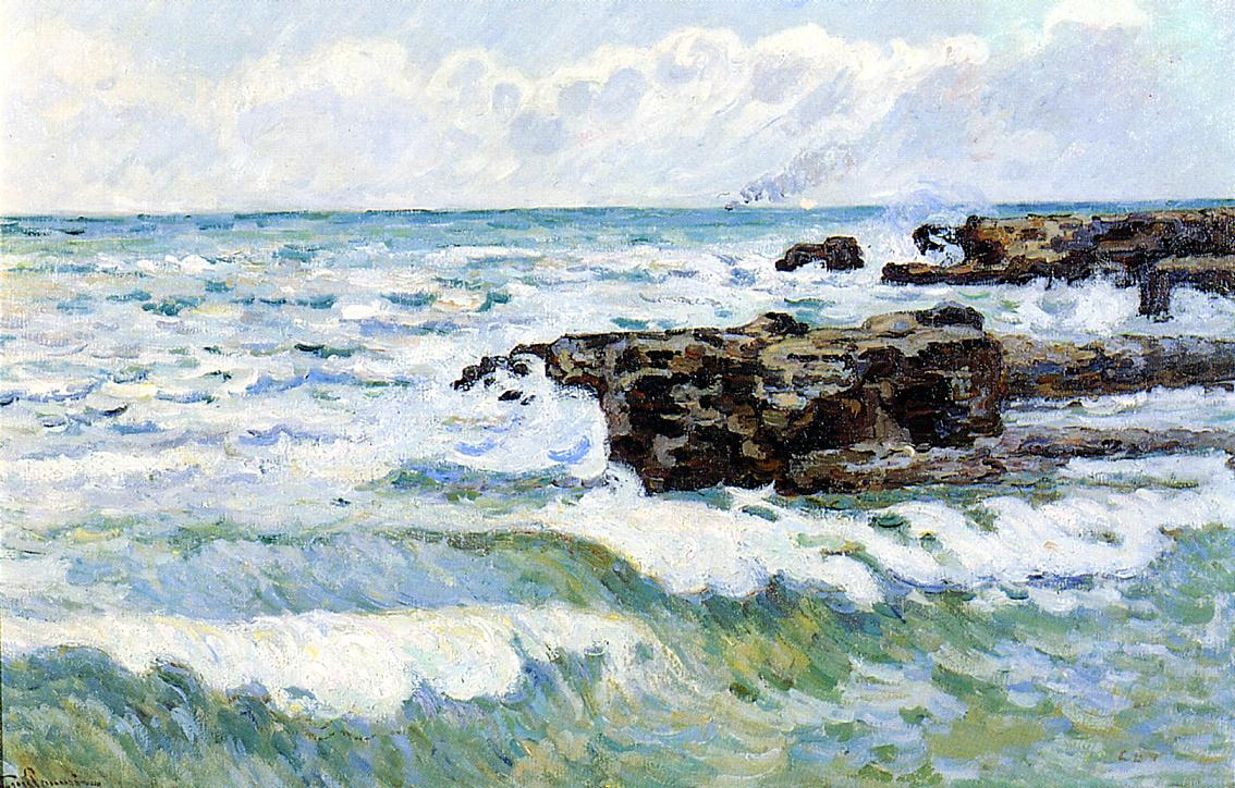 The Sea at Saint-Palais 1895 | Armand Guillaumin | oil painting