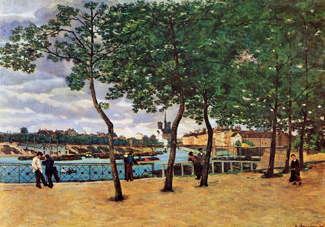 The Seine at Paris (aka Quai de la Rapee) 1871 | Armand Guillaumin | oil painting