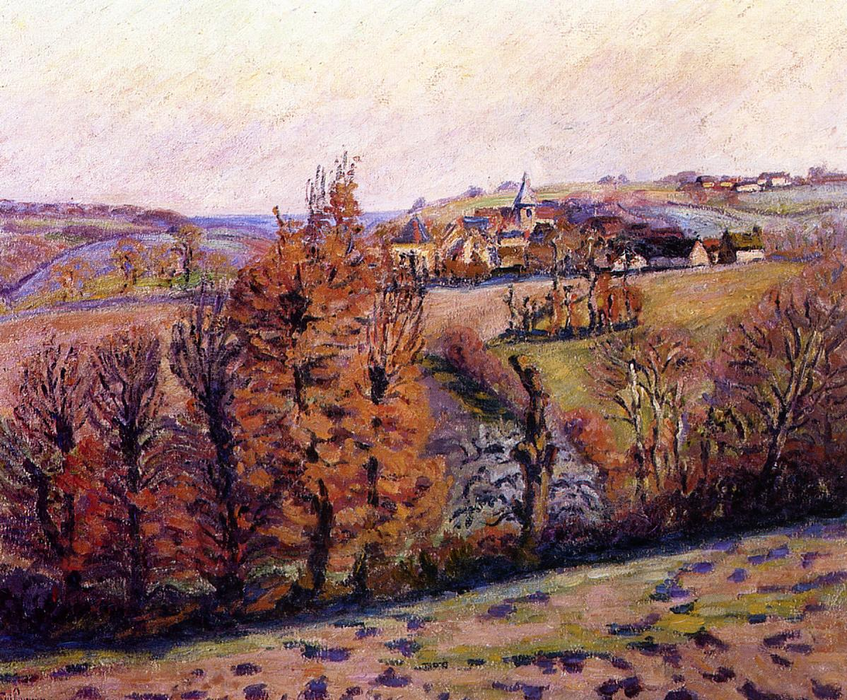 The Village of Crozant | Armand Guillaumin | oil painting